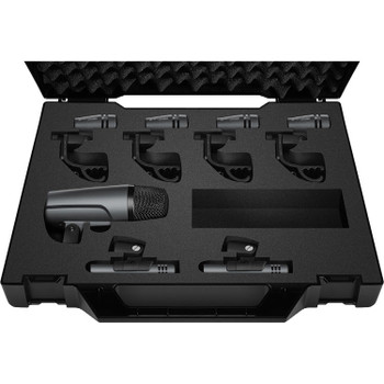 Sennheiser e600 Drum Pack Complete Drum Miking Solution with Kick Drum Microphone, 4 Snare/Tom Microphones, and 2 Condenser Microphones for Overheads/Cymbals