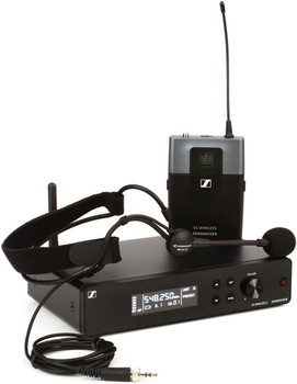 Sennheiser XSW 2-ME3 Wireless Headworn Microphone System - A Range XS Wireless System with ME 3 Headworn Microphone, SK-XSW Bodypack Transmitter, and EM-XSW 2 Receiver - A Range (548-572MHz)