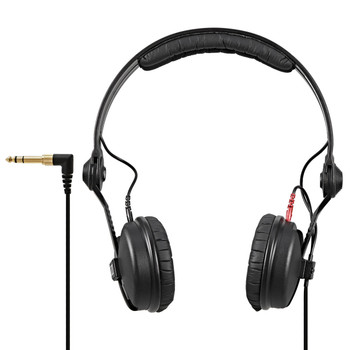 """Sennheiser HD 25 Closed-back On-ear Studio Headphones Closed-back Headphones with Flip-away Earcup, Detachable Cable, and Screw-on 1/4"""" Adapter"""