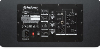 "PreSonus Eris E66 Dual 6.5"" Powered Studio Monitor 140W 2-way Powered Studio Monitor, with Dual 6.5"" LF/MF Drivers and 1.25"" HF Driver (each)"