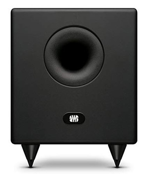 "PreSonus Temblor T8 8"" Powered Studio Subwoofer 200W Powered Studio Subwoofer with 8"" Speaker, Balanced TRS Inputs, Unbalanced RCA Inputs and Outputs, Lowpass Filter, Phase Switch, Ground Lift, and Level Control"