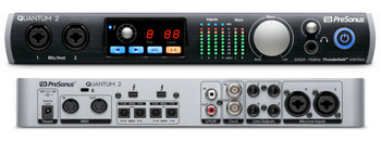 PreSonus Quantum 2 22x24 Thunderbolt 2 Audio Interface 22-in/24-out Thunderbolt 2 Audio Interface with 4 Recallable XMAX Preamplifiers, ADAT Optical and S/PDIF Digital I/O, and Software Bundle