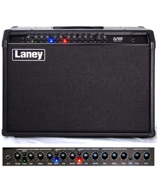"LANEY LV TUBE HYBRID COMBO, 120W, 2x12"" CUSTOM HH DRIVER, REVERB, 3-WAY FOOTSWITCH INCLUDED"