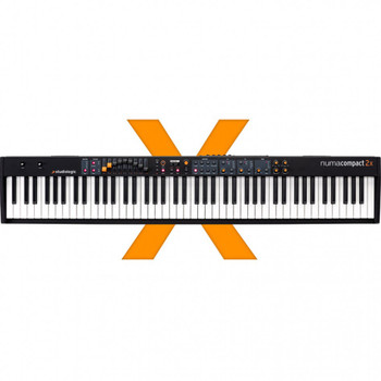 Studiologic Numa Compact 2x 88-key Semi-Weighted Keyboard with Aftertouch 88-key Digital Stage Piano/MIDI Controller with Semi-weighted Action, Aftertouch, 88 Onboard Sounds, Dual FX Processors, and Enhanced MIDI Controller, Onboard Speaker System