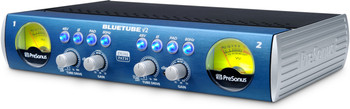 PreSonus BlueTube DP V2 2-channel Microphone and Instrument Preamplifier with Mixable XMAX Solid-state and 12AX7-based Tube Preamplifiers for Each Channel