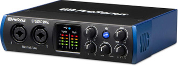 PreSonus Studio 24c USB-C Audio Interface 2-in/2-out USB-C Audio Interface with 2 XMAX-L Preamps, Headphone Output, MIDI I/O, Studio One Artist DAW, and Studio Magic Plug-in Suite - Mac/PC