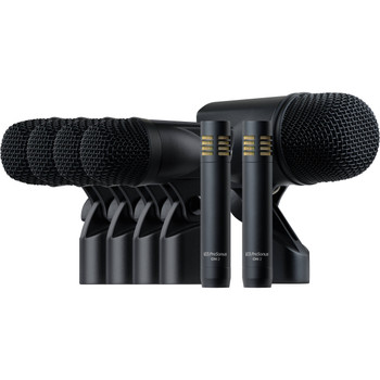 PreSonus DM-7 Drum Microphone Set 7-piece Drum Microphone Kit with BD-1 Kick Mic, 4 x ST-4 Tom/Snare Mics, 2 x OH-2 Overhead Mics, and Accessories