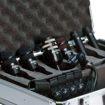 Audix DP Elite 8 Premium Drum Mic Package with Drum Clips, Eight Mics, and Road Case