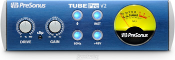 PreSonus TubePre V2 Single-channel Microphone and Instrument Preamplifier with Built-in Tube Tone Circuit