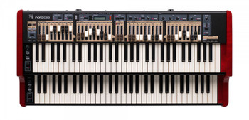 Nord C2D Dual Manual Combo Organ 61-key Dual Manual Combo Organ with 2 Sets of Physical Drawbars Per Manual; Tonewheel, Vox, and Farfisa Models; and Sampled Baroque Pipe Organ