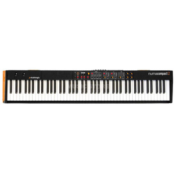 Studiologic Numa Compact 2 88-key Stage Piano 88-key Stage Piano/MIDI Controller with Semi-weighted Action, Aftertouch, 88 Onboard Sounds, Dual FX Processors, and Enhanced MIDI Controller Functionality