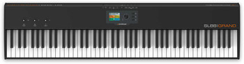 Studiologic SL88 Grand Keyboard Controller 88-key MIDI Keyboard Controller with Aftertouch-enabled TP/40WOOD Graded Hammer Action, TFT Color Display, and 3 X/Y Stick Controllers