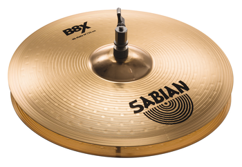 "Sabian B8X 3-piece Performance Cymbal 3-pack with a Set of 14"" Hi-hats, a 16"" Thin Crash, and a 20"" Ride"