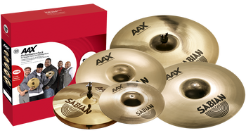 "Sabian AAX Praise and Worship 5-piece Cymbal Pack with Bonus 18"" Crash Cymbal Pack with 13"" Hi-hats, 11"" Splash, 16"" Crash, 21"" Ride, and Bonus 18"" Crash"