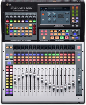 PreSonus StudioLive32-32-channel Rackmountable Digital Mixer with 16 Microphone Preamps, 17 Motorized Faders, 64-in/64-out USB Audio Interface, AVB Networking, FLEX DSP Engine, SD Card Recorder, DAW Control, and Software