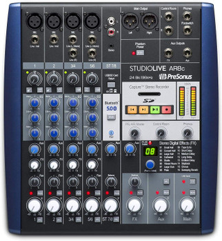 PreSonus StudioLive AR8c Mixer and Audio Interface with Effects 8-channel Analog Mixer with 24-bit/96kHz Stereo SD Recorder, 3-band EQ, Built-in Effects, 8-in/4-out USB Audio Interface, Studio One Artist DAW, and Studio Magic Plug-in Suite - Mac/PC