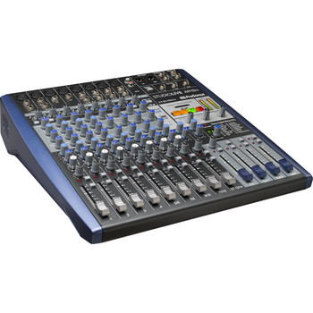 PreSonus StudioLive AR12c Mixer and Audio Interface with Effects 12-channel Analog Mixer with 24-bit/96kHz 14-track Recorder, 3-band EQ, Built-in Effects, 14-in/4-out USB Audio Interface, Studio One Artist DAW, and Studio Magic Plug-in Suite - Mac/PC