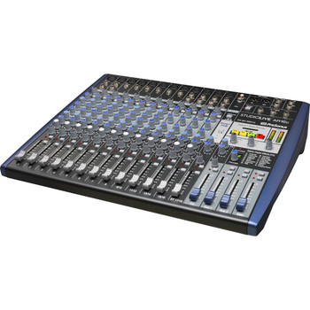 PreSonus StudioLive AR16c Mixer and Audio Interface with Effects 16-channel Analog Mixer with 24-bit/96kHz 18-track Recorder, 3-band EQ, Built-in Effects, and 18-in/4-out USB Audio Interface