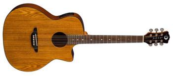 Luna Guitar Gypsy Exotic Ash A/E - Gloss Natural
