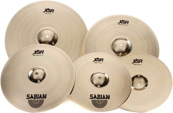 "Sabian XSR Performance Set with Free 18"" Crash 4-piece Cymbal Set with 14"" Hi-hats, 20"" Ride, 16"" Fast Crash, plus Free 18"" Fast Crash"