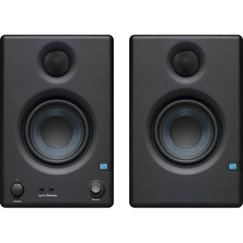 "PreSonus Eris E3.5 3.5"" Powered Studio Monitors 3.5"" Powered Studio Monitor with Kevlar Woofer, 1"" Silk-dome Tweeter, and 50W Class AB Amplification (pair)"