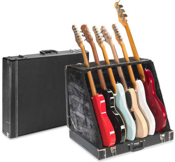 Stagg Universal guitar stand case for 6 electric or 3 acoustic guitars