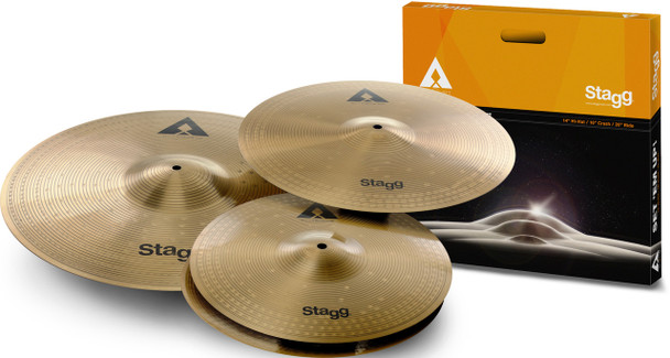 Stagg AXK SET Innovation Cymbal Set - Copper Steel  14+16+20""