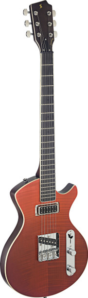 Stagg Electric Guitar Silveray series, Custom Deluxe model, with solid alder body Fading Red