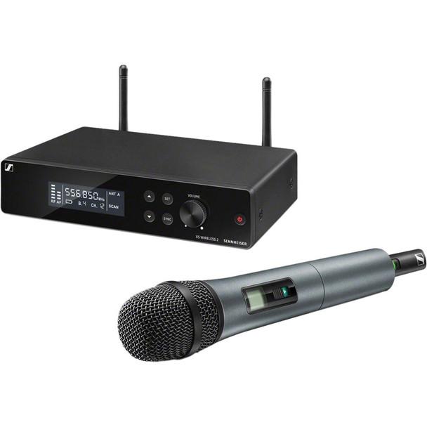 Sennheiser XSW 2-835 Wireless Handheld Microphone System - A Range XS Wireless System with SKM 835-XSW Handheld Microphone Transmitter and EM-XSW 2 Rackmountable Receiver - A Range (548-572MHz)