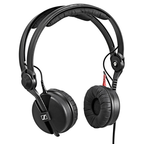 "Sennheiser HD 25 Closed-back On-ear Studio Headphones Closed-back Headphones with Flip-away Earcup, Detachable Cable, and Screw-on 1/4"" Adapter"