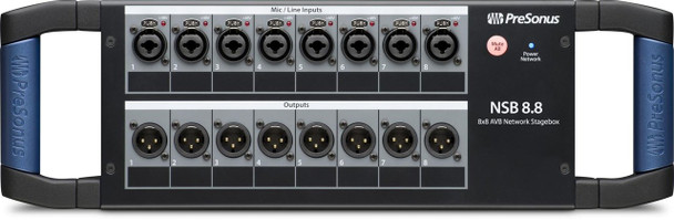 PreSonus NSB8.8 AVB Networked Stage Box 8 x 8 Digital Stage Box with 8 XMAX Preamps and 2 AVB Ports