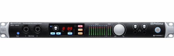 PreSonus Quantum 26x32 Thunderbolt 2 Audio Interface 24-bit/192kHz, 26-in/32-out Thunderbolt 2 Audio Interface with 8 Recallable XMAX Preamplifiers, ADAT Optical and S/PDIF Digital I/O, and Center-console Controls with Talkback