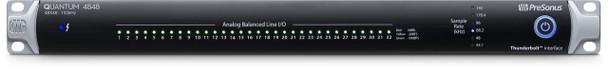 PreSonus Quantum 4848 48x48 Thunderbolt 2 Audio Interface 24-bit/192kHz, 48-in/48-out Thunderbolt 2 Audio Interface with 32 Channels of DB-25 Line-level I/O and ADAT Optical Digital I/O