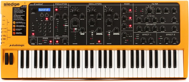 Studiologic Sledge 2.0 61-key Virtual-analog Synthesizer, with Fatar TP-9 Keybed, Full Hands-on Controls, Waldorf PPG Synth Engine, Sampling, and Onboard Effects