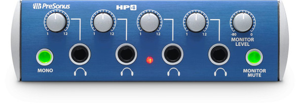 PreSonus HP4 4-Ch Headphone Amplifier 4-channel Headphone Monitor with 150 mWatts at 51 Ohms