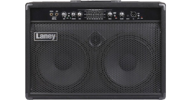 """RICHTER bass combo/monitor: 300 watts, 2x10"""" drivers+horn, Compressor, 7 band graphic, DI"""