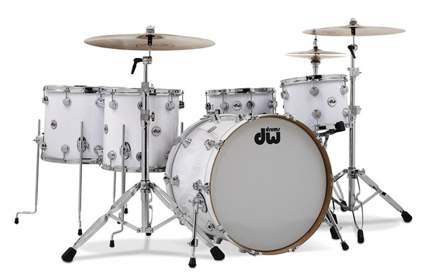 DW Collector Series Custom Drum Set White Glass