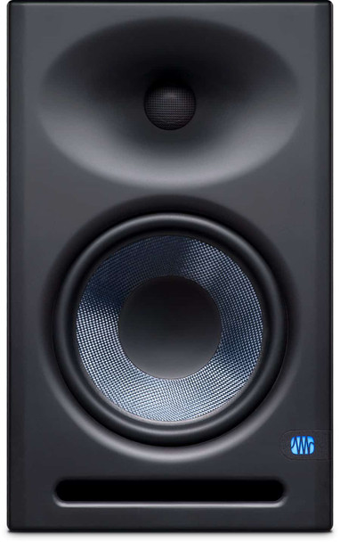 "PreSonus Eris E8-XT 8"" Powered Studio Monitor 8"" Powered Studio Monitor with Kevlar Woofer, 1.25"" Silk-dome Tweeter, and 140W Class AB Bi-amplification (each)"