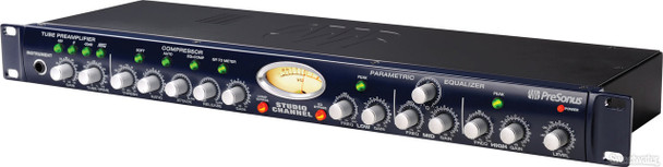 PreSonus Studio Channel Channel Strip with Class A Vacuum Tube Preamplifier, Variable VCA Compressor, and 3-band Parametric EQ