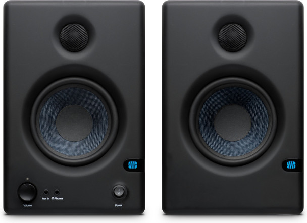 "PreSonus Eris E4.5 4.5"" Powered Studio Monitors Powered 25W Studio Monitors with 4.5"" Kevlar Woofer, 1"" Silk-dome Tweeter, and Acoustic Tuning Controls (pair)"