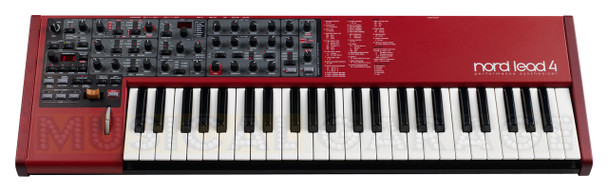 Nord Lead 4 49-key Four-part Multi-timbral Synthesizer, with Virtual Analog Subtractive Synthesis, FM, Wavetable Synthesis, Hard/Soft Sync, and Built-in Effects