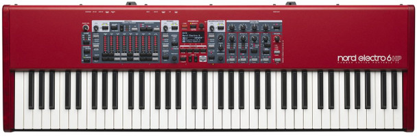 Nord Electro 6 HP 73-note Stage Piano with Hammer Action Keybed, Piano and Organ Sounds, Effects, USB, and Rotary Speaker Emulator