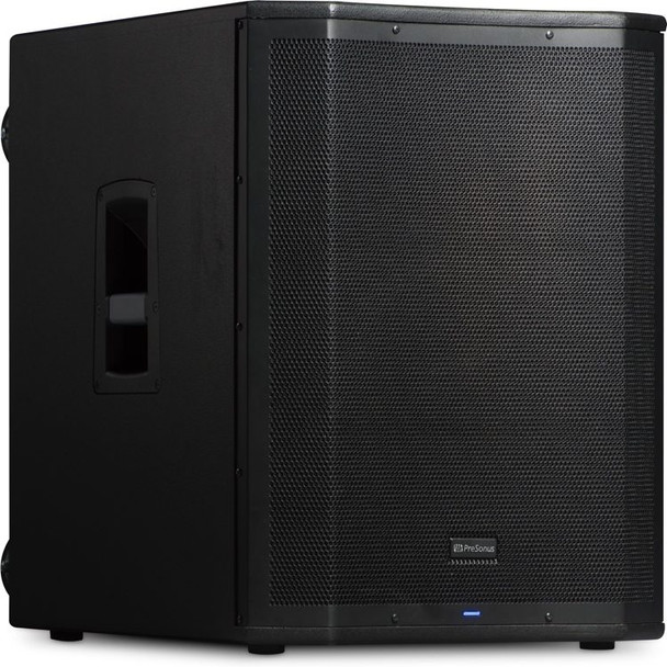 "PreSonus Air18S 1200W 18"" Powered Subwoofer 1,200W Active PA Subwoofer with 18"" LF Driver, 2 Combo XLR/TRS Inputs, 1/8"" Stereo Input, Variable Lowpass Filter, and Onboard DSP"