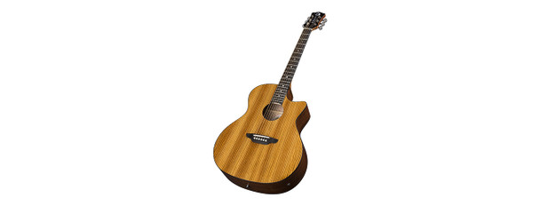 Luna Guitar Gypsy Exotic Zebrawood