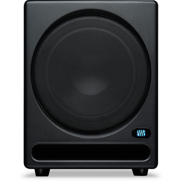 "PreSonus Temblor T10 10"" Powered Studio Subwoofer 250W Powered Studio Subwoofer with 10"" Speaker, Balanced XLR Inputs and Outputs, Balanced TRS Inputs, Unbalanced RCA Inputs and Outputs, Lowpass Filter, Phase Switch, Ground Lift, and Level Control"