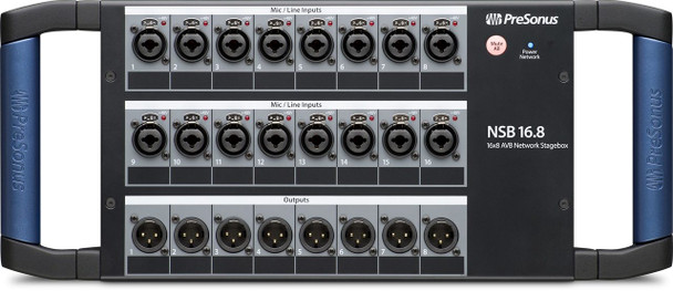 PreSonus NSB16.8 AVB Networked Stage Box 16 x 8 Digital Stage Box with 16 XMAX Preamps and 2 AVB Ports