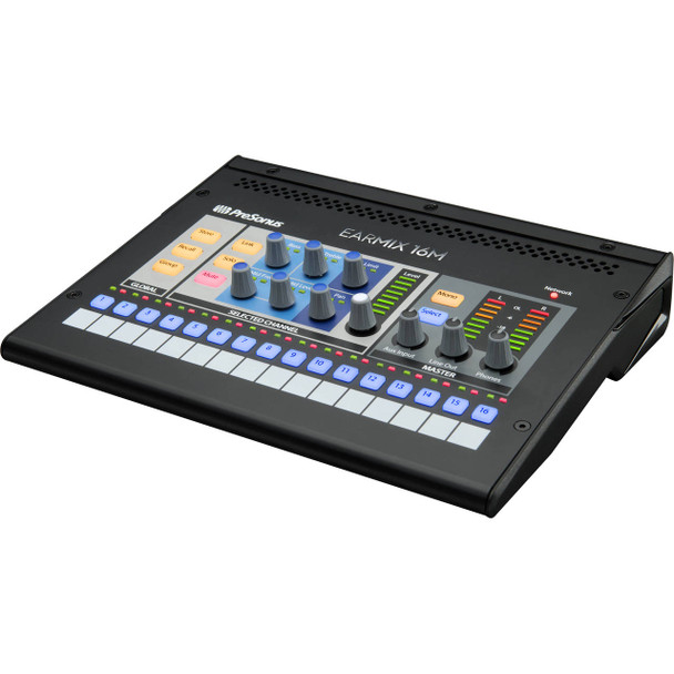 PreSonus EarMix 16M AVB Personal Monitor Mixer 16 x 2 Personal Monitor Mixer with Per-channel 3-band EQ and Limiter