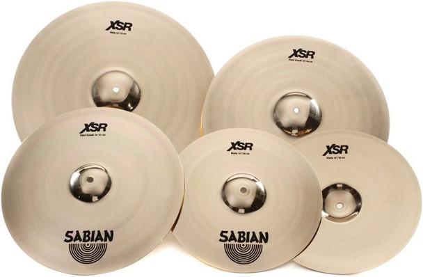 "Sabian XSR Performance Set with Free 18"" Crash 4-piece Cymbal Set with 14"" Hi-hats, 20"" Ride, 16"" Fast Crash, plus Free 18"" Fast Crash"