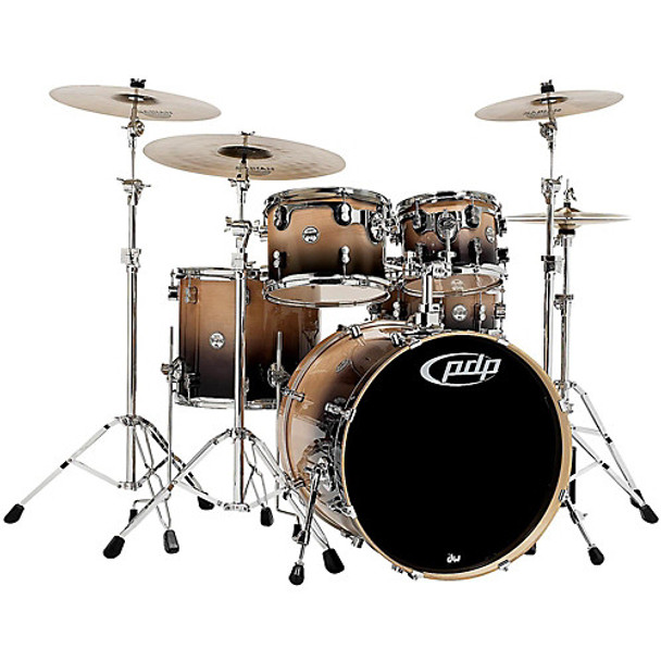 PDP by DW Concept Birch 5-Piece Shell Pack Natural to Charcoal Fade