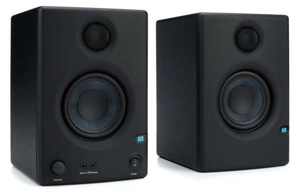 "PreSonus Eris E3.5 3.5"" Powered Studio Monitors 3.5"" Powered Studio Monitor with Kevlar Woofer, 1"" Silk-dome Tweeter, and 50W Class AB Amplification (pair)"